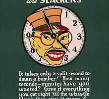 Clock Watchers - WW2 War Poster - Propaganda Poster Vintage by verypeculiar