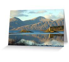 Castle Stalker, Highlands, Scotland Greeting Card