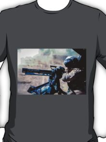 The Gunner - Digital Art / Helicopter Gunner - War / Military T-Shirt