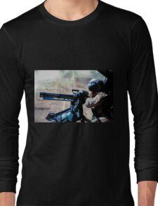 The Gunner - Digital Art / Helicopter Gunner - War / Military Long Sleeve T-Shirt