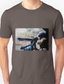 The Gunner - Digital Art / Helicopter Gunner - War / Military Unisex T-Shirt