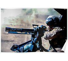 The Gunner - Digital Art / Helicopter Gunner - War / Military Poster