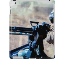 The Gunner - Digital Art / Helicopter Gunner - War / Military iPad Case/Skin