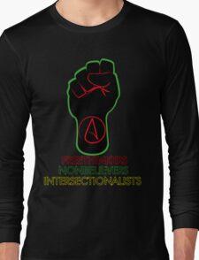 Black Atheist Power Fist 2 Long Sleeve T-Shirt