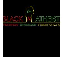Black Atheist Banner Photographic Print