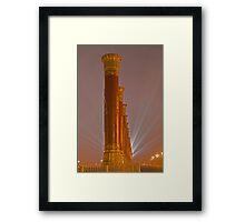 Columns and Lights Framed Print