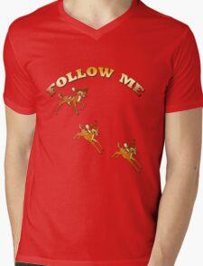 FOLLOW ME/ Children and babies  Art + Products Design  Mens V-Neck T-Shirt