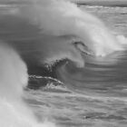 Waves in Black & White by Of Land & Ocean - Samantha Goode