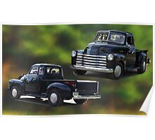 Antique truck. Poster