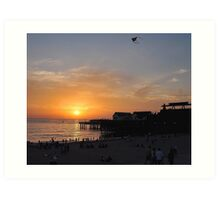 Kite at Sunset Art Print