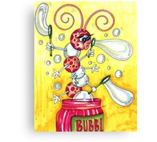 Bubbly Caterpillar Canvas Print