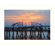 Sunset Horseshoe Pier  Art Print