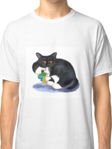 Kitty dangles a Flower Fairy Upside Down Classic T-Shirt