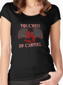 Touched By Castiel (#1) Women's Fitted Scoop T-Shirt