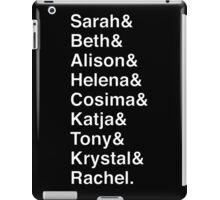 ORPHAN BLACK Helvetica Name List iPad Case/Skin