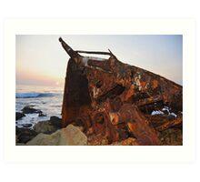 Dominator Wreck Art Print