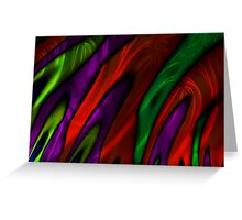 Stained Glass Flames Greeting Card