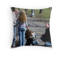 A nice afternoon in the park...... Throw Pillow