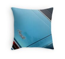 Ocean Blue Chrome Throw Pillow
