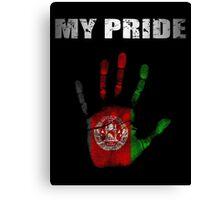 Afghanistan My Pride Canvas Print