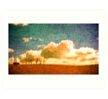 the hay shed. Art Print
