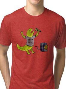 Karaoke Newt Tri-blend T-Shirt