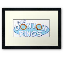 Donion Rings Framed Print