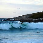 Surfer at Fistral Beach by jrfphotography