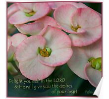 Psalm 37:4 Poster