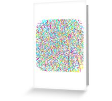 Pink Blue and Yellow Splatter Greeting Card