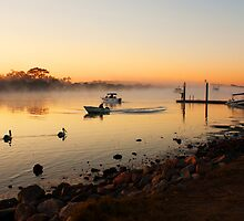 Morning Fishermen by Helen Martikainen