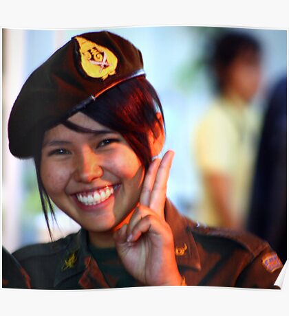 Security, Songran, Chiang Mai, Thailand Poster