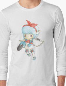 Semi Mecha School Girl Long Sleeve T-Shirt