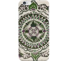 Green garden mandala iPhone Case/Skin