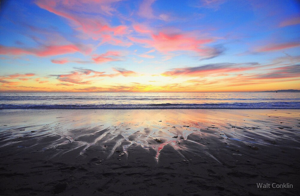 Flames on the sand by Walt Conklin