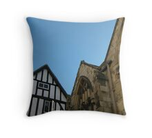 Old Buildings Against the Sky Throw Pillow