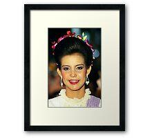 Portrait ,Chiang Mai, Thailand Framed Print