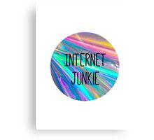 internet junkie Canvas Print