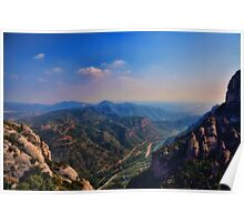 View from Montserrat Poster
