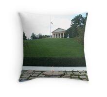 The Grave of President John F Kennedy Throw Pillow