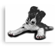 Skye Old English Sheepdog Husky  Metal Print