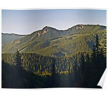 Cascade Mountains from Amtrak Train Poster