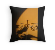 Shadowy Afternoon Golds Throw Pillow