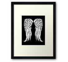 Daryl Dixon Angel Wings - The Walking Dead Framed Print