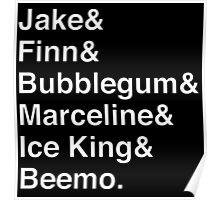 ADVENTURE TIME Helvetica Names List Poster