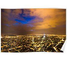 Blue Parisian nightsky II Poster
