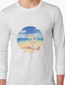 Princess Peach at the Beach Long Sleeve T-Shirt