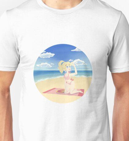 Princess Peach at the Beach Unisex T-Shirt