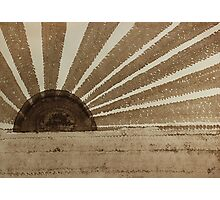 Sepia Sunset original painting Photographic Print