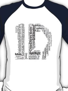 1D WordCloud T-Shirt